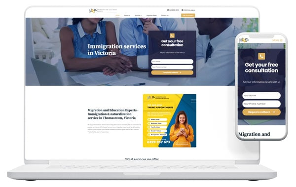 web design for migration and education