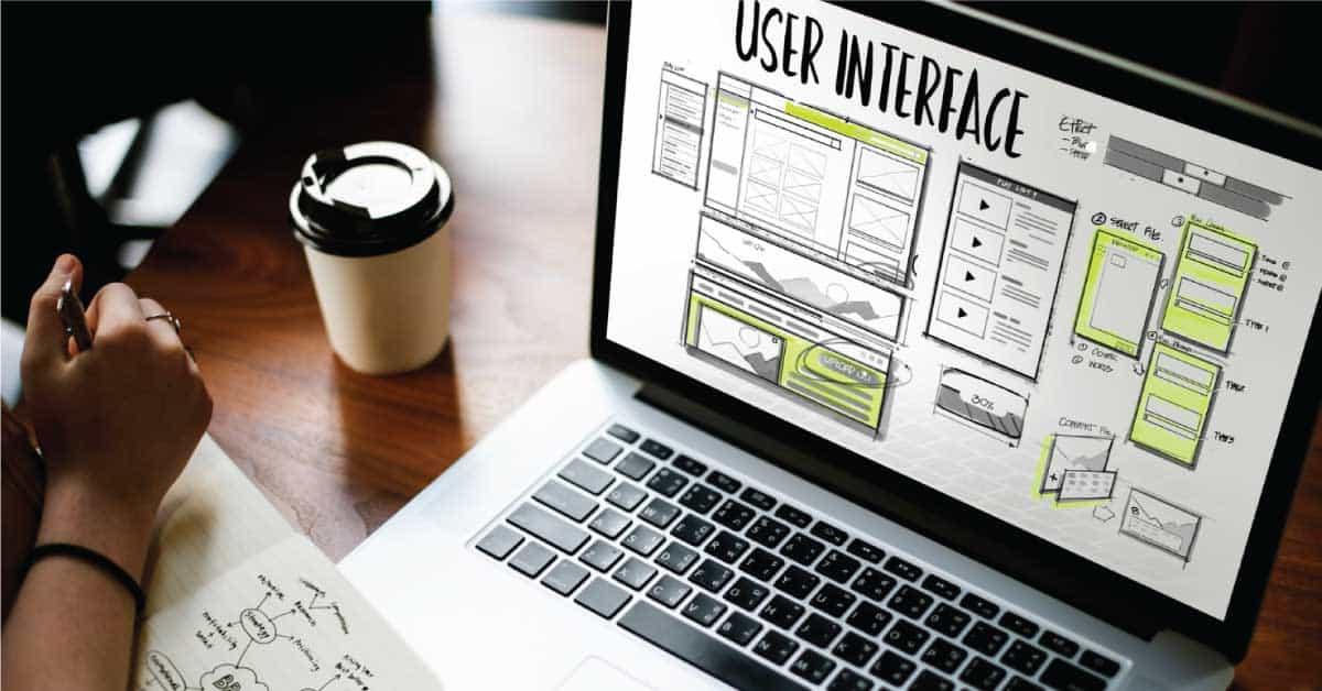 designing user interface on laptop