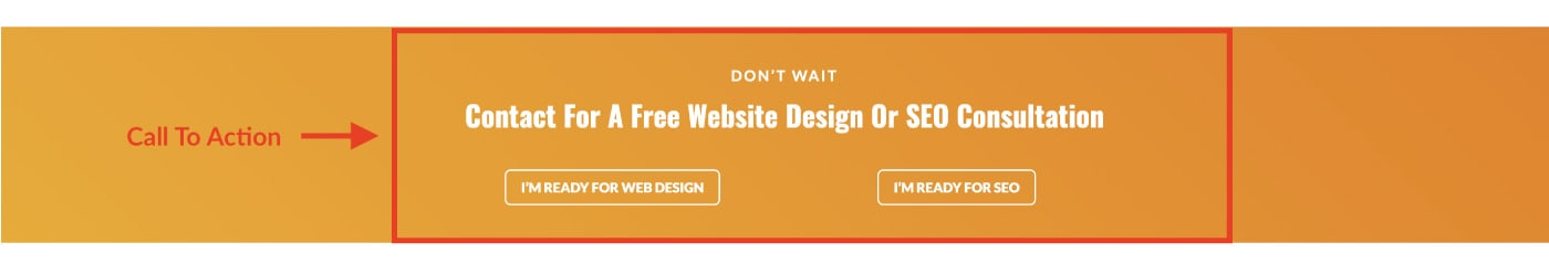 Website Anatomy: Call to action