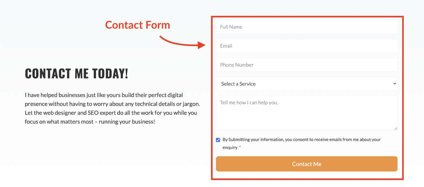 Website Anatomy: Contact forms