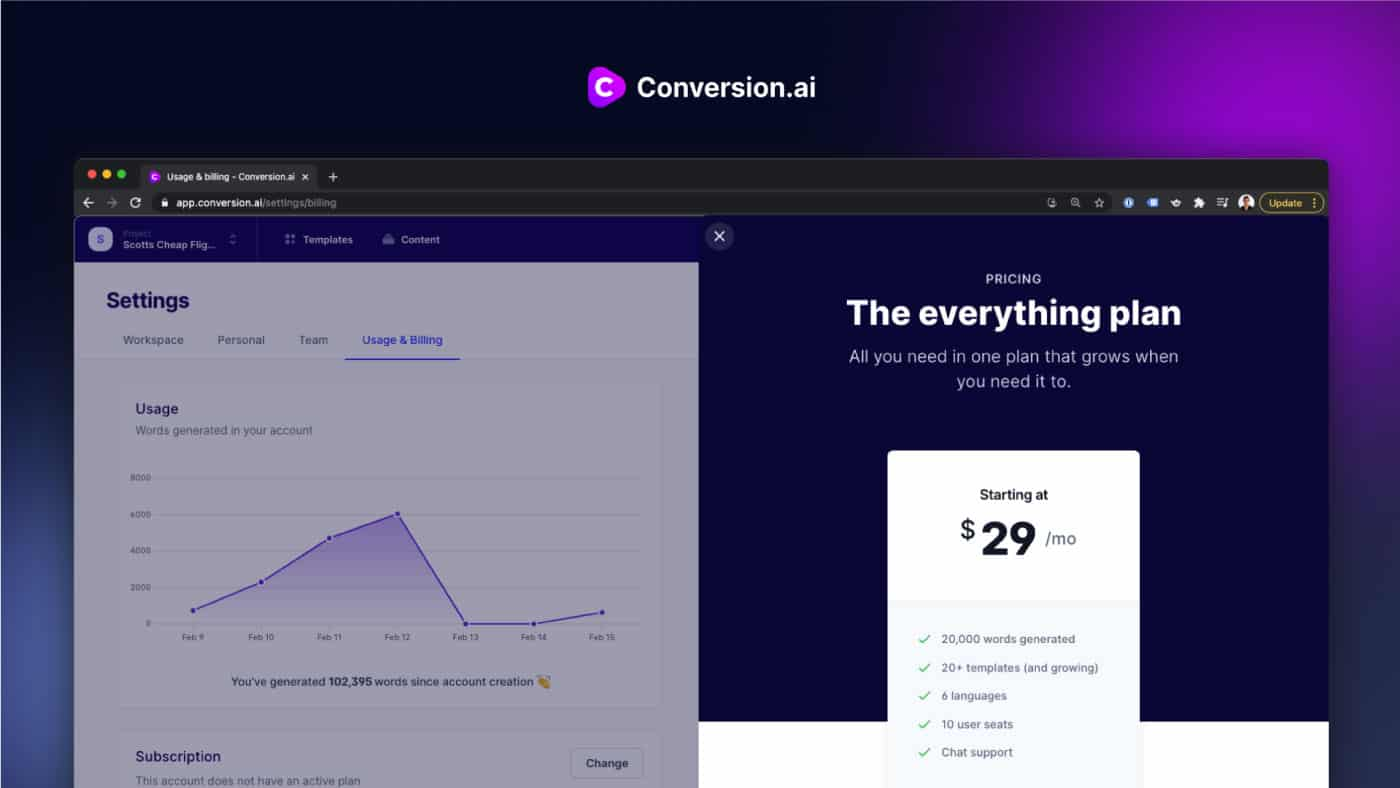 conversion.ai for your writing assistance