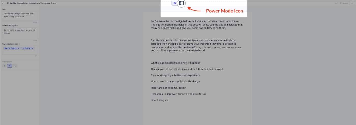 Conversion.ai - Power mode