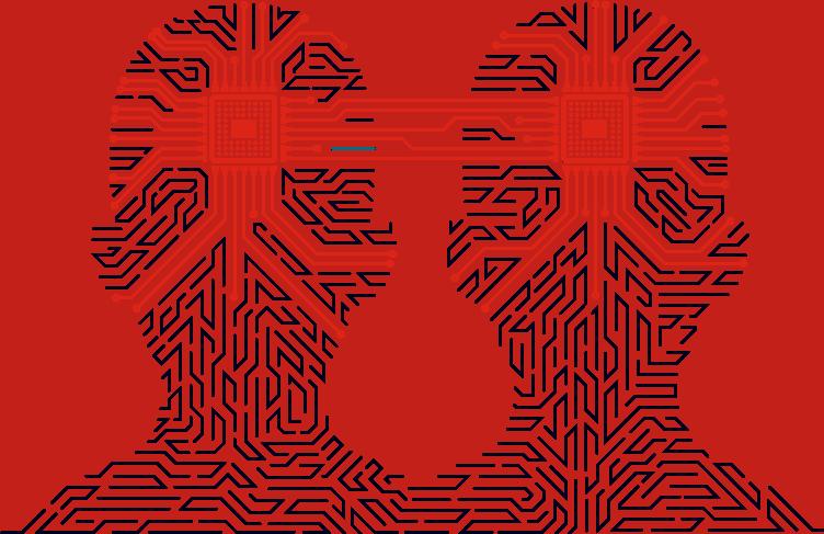 digital twin blue red