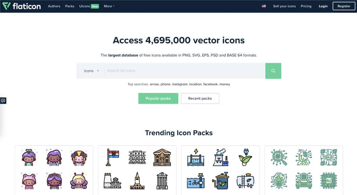 flaticon - website for best free icons