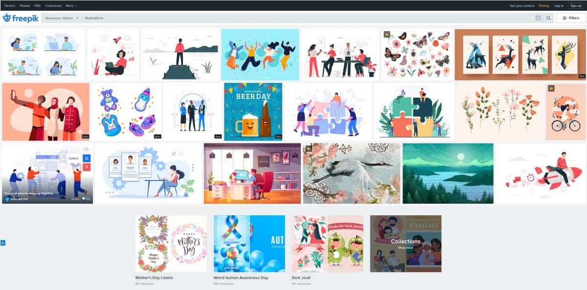 freepik - website for best free illustrations