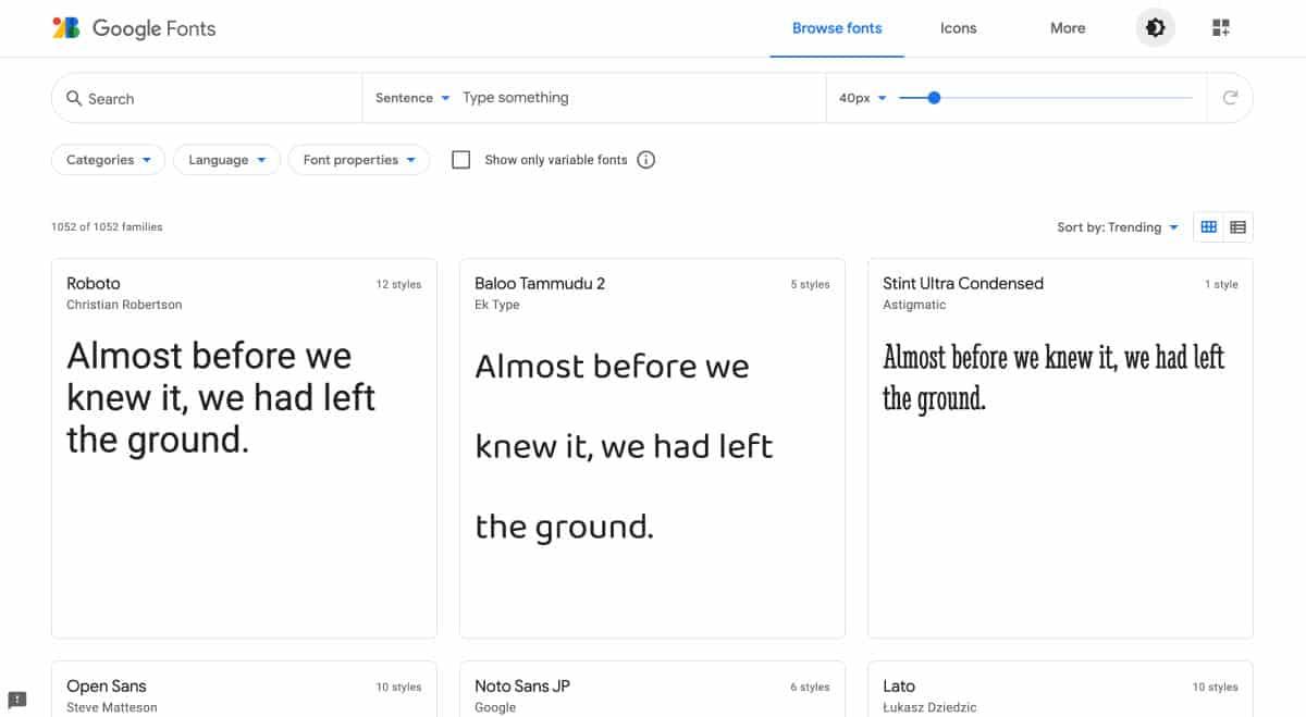 google fonts - website for best free fonts
