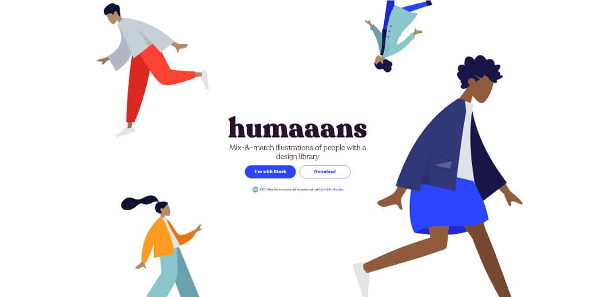 humaaans - website for best free illustrations
