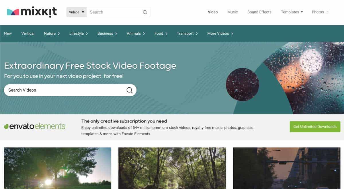 mixkit - website for best free stock videos