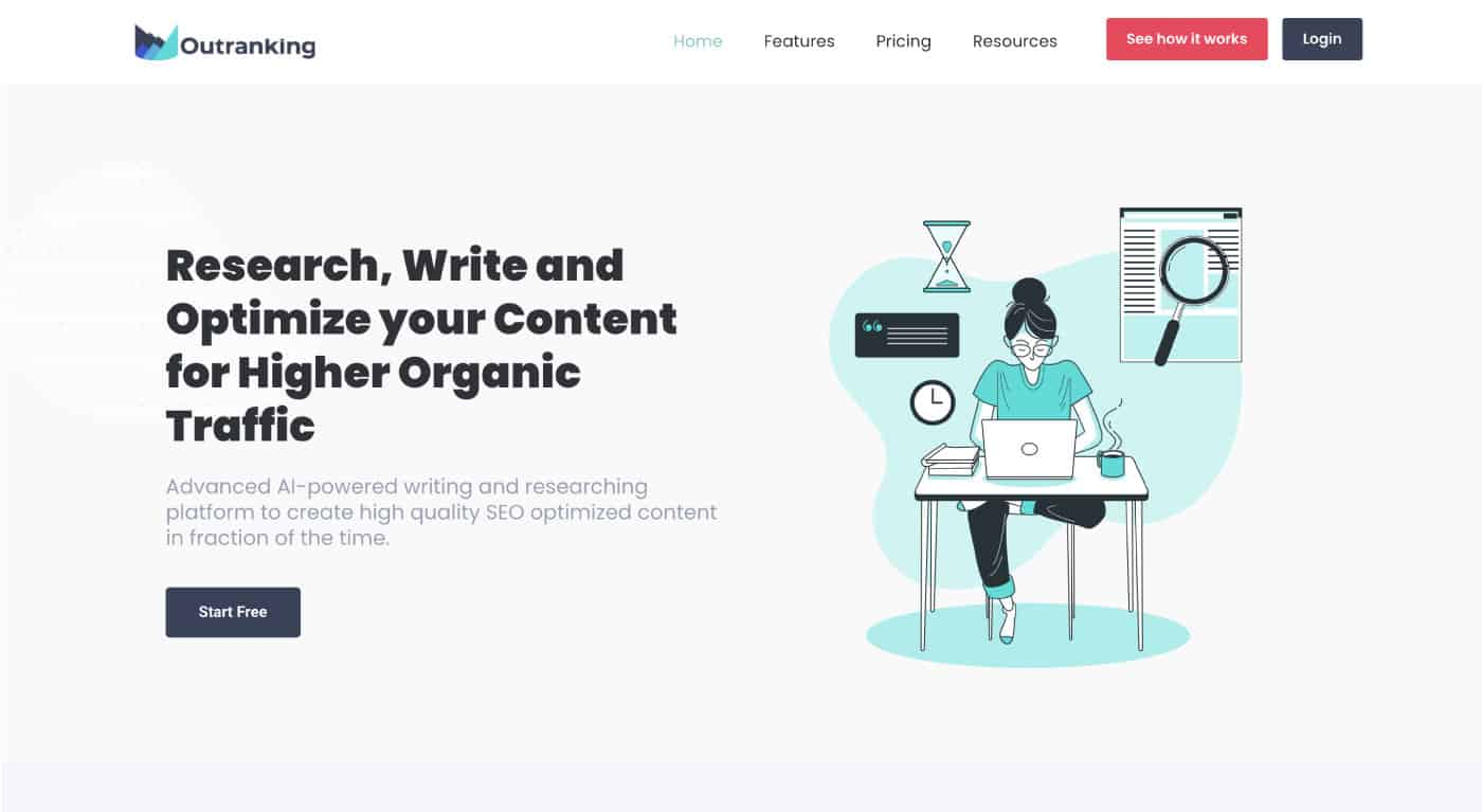 create seo optimised content with outranking.io