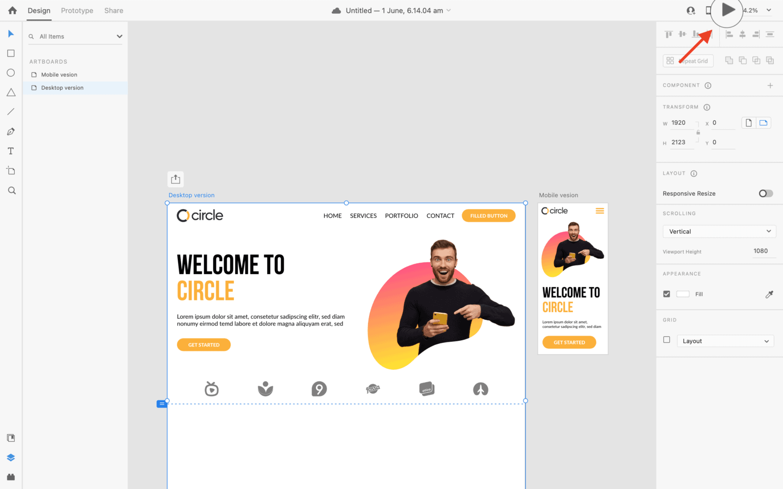 preview your design using the preview button