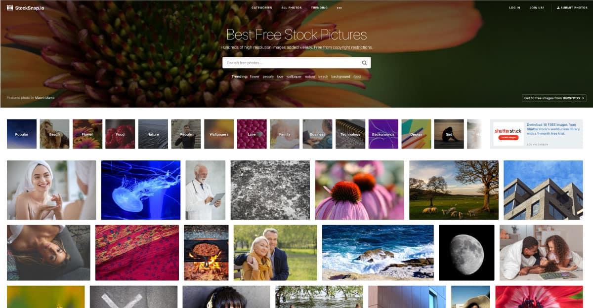 stocksnap.io - website for best free stock photos