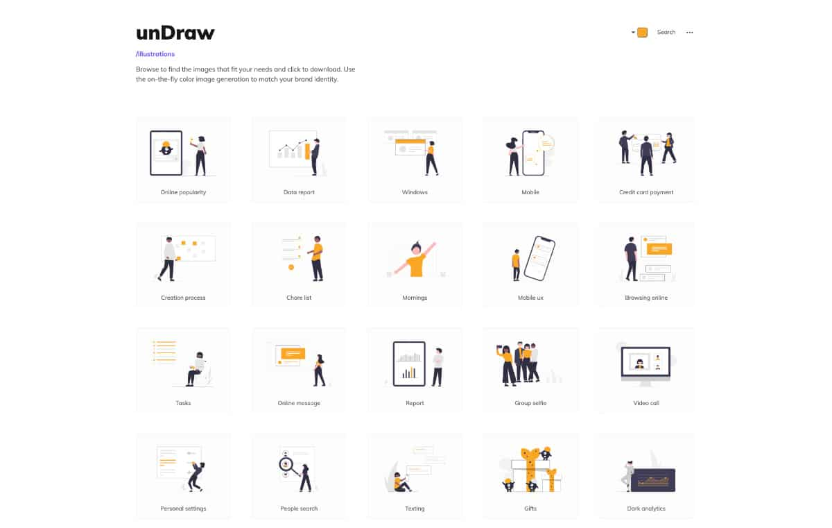 undraw - website for best free illustration