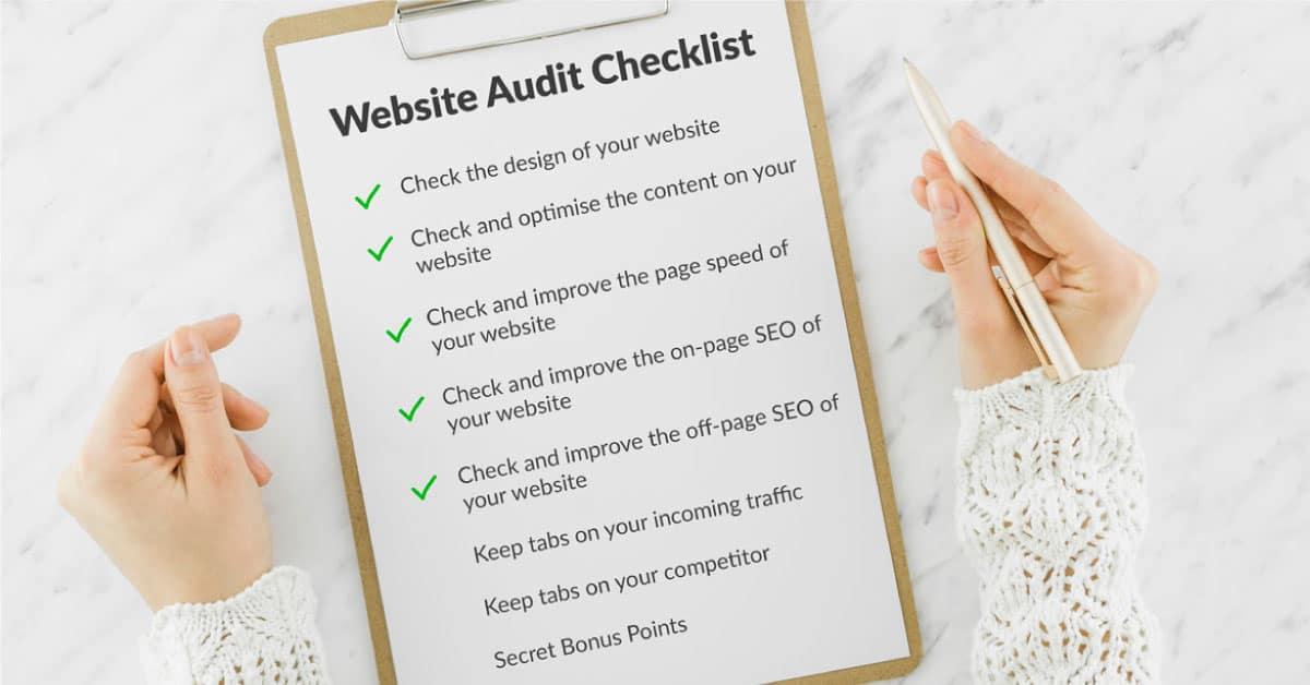 website audit checklist from sparsh gambhir